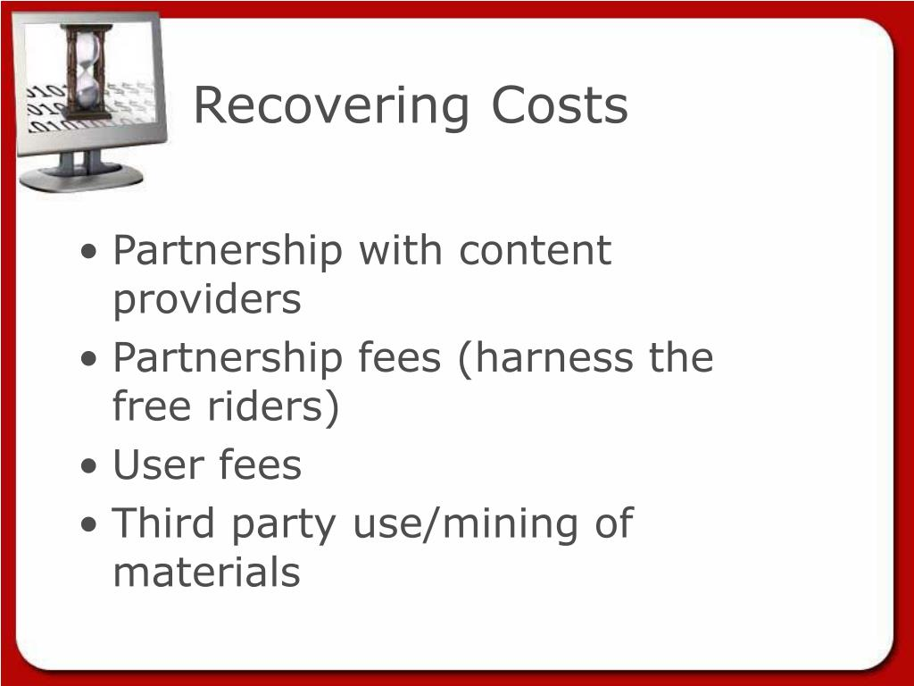 Recovering Costs