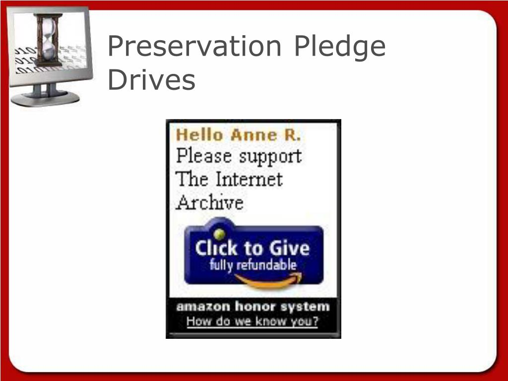 Preservation Pledge Drives