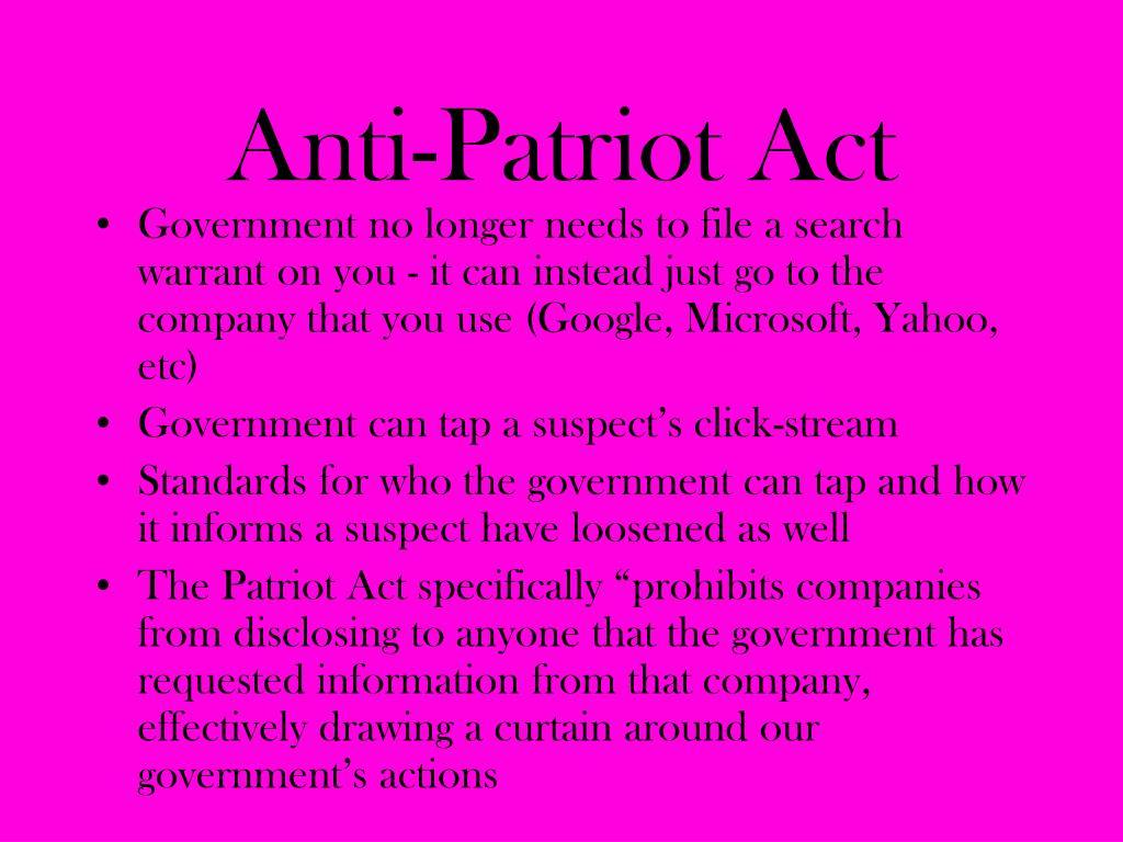 Anti-Patriot Act