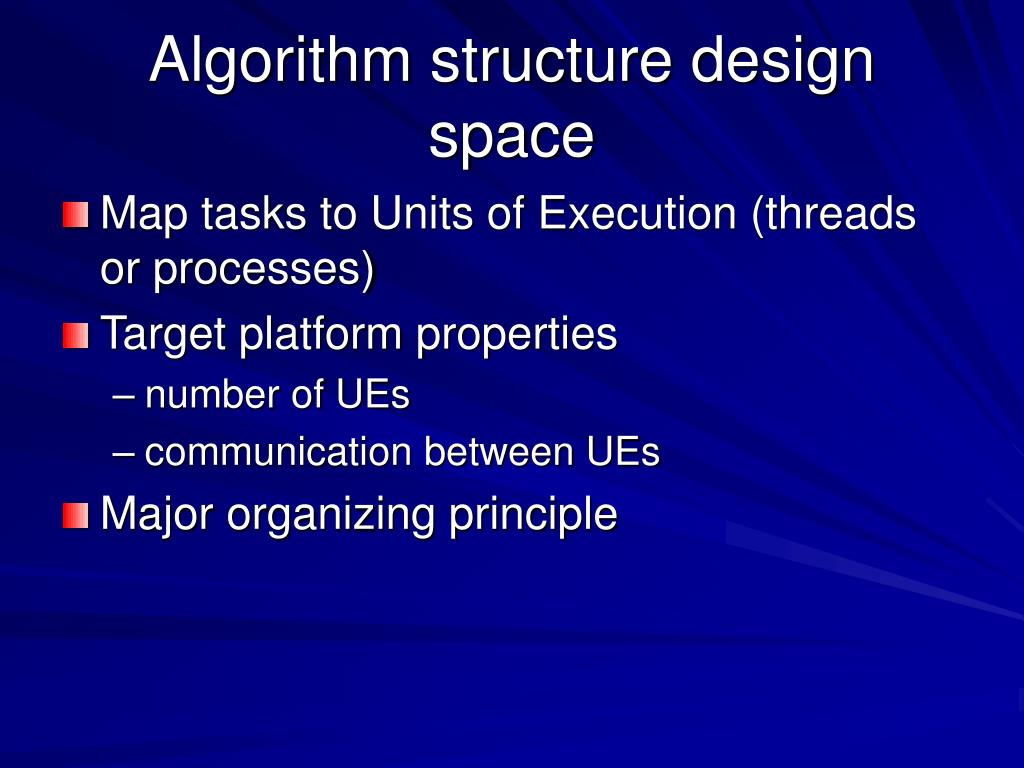 Algorithm structure design space