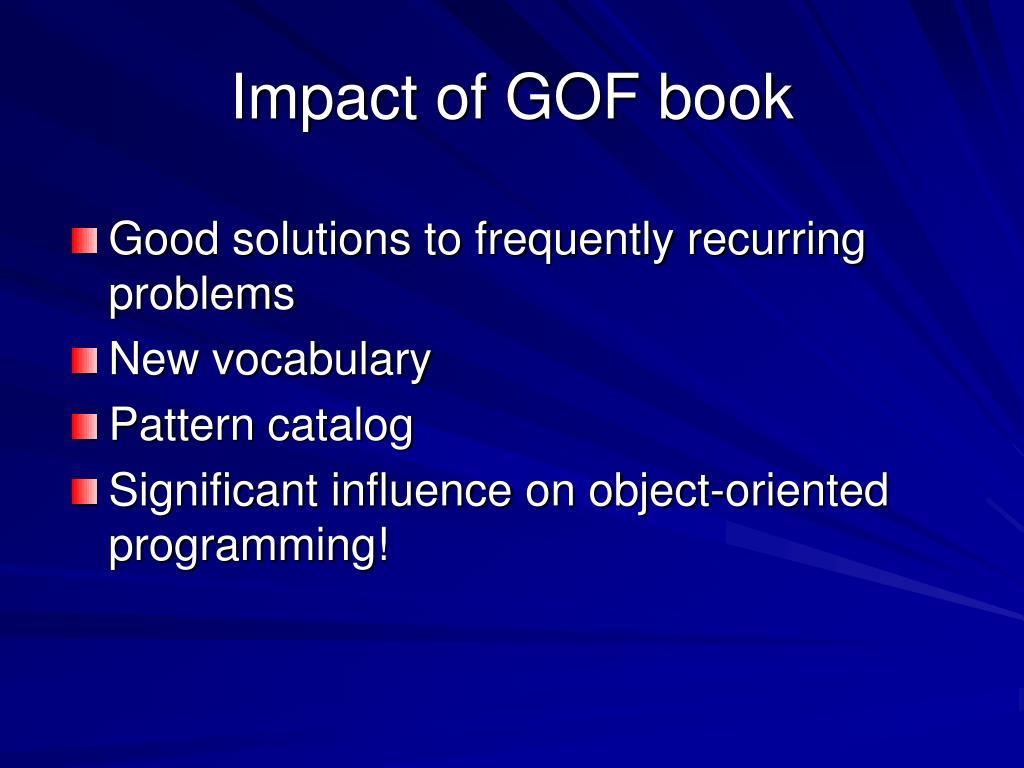 Impact of GOF book