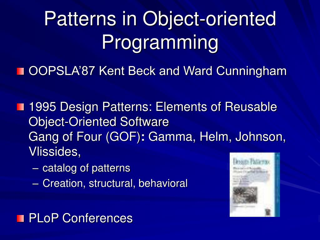Patterns in Object-oriented Programming