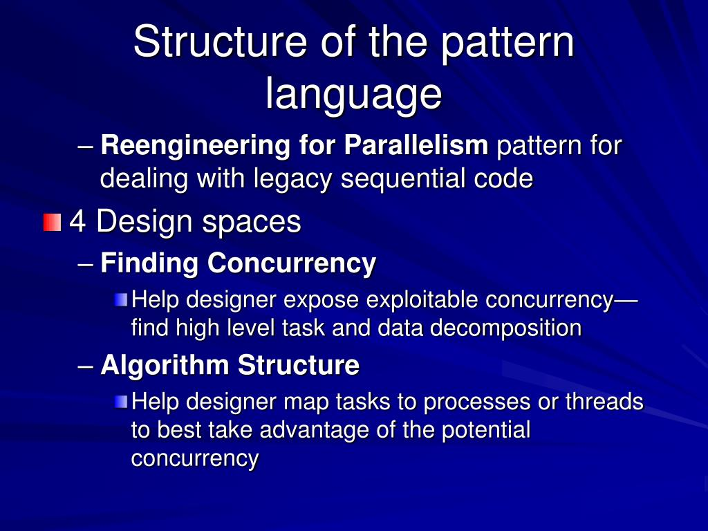 Structure of the pattern language