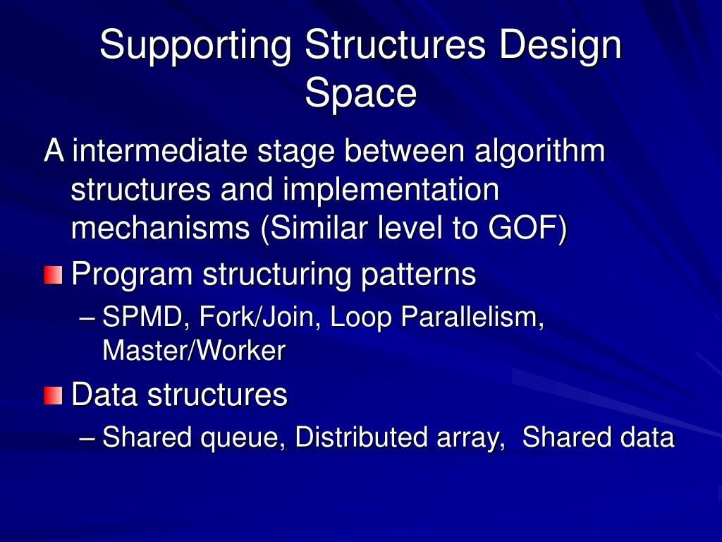 Supporting Structures Design Space