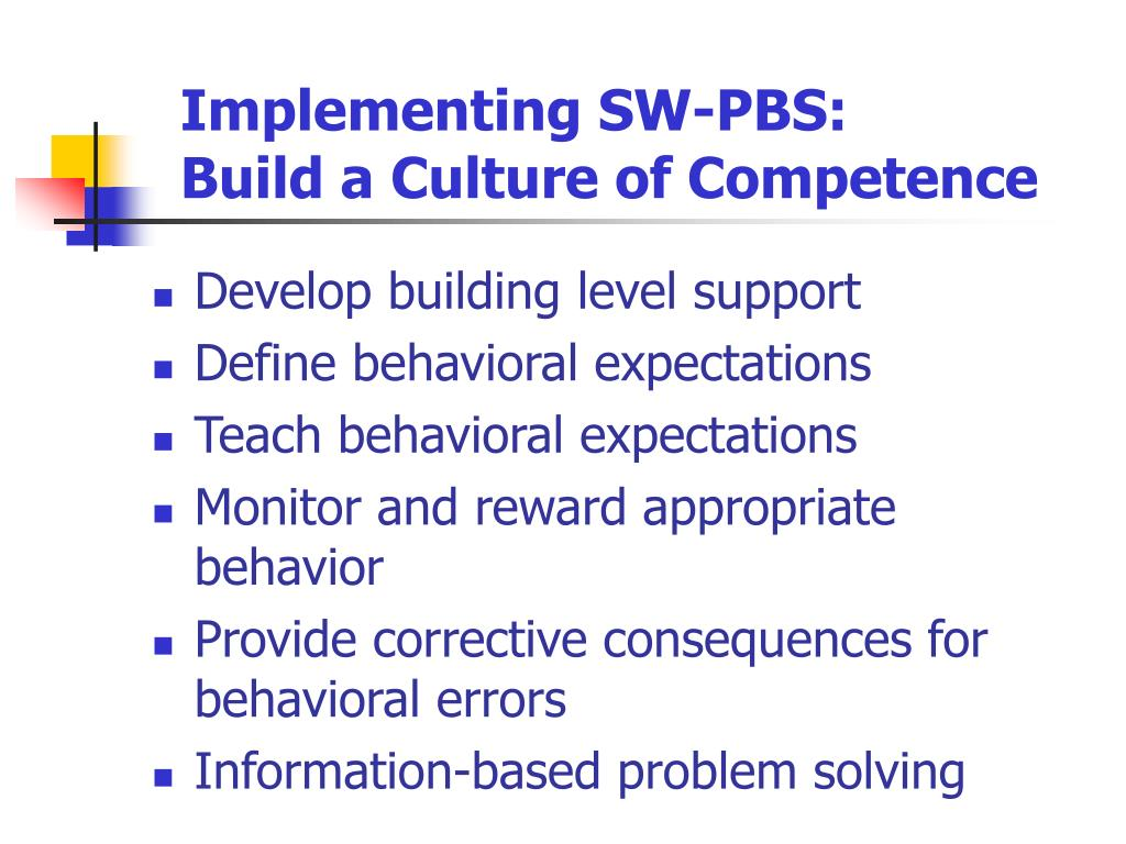 Implementing SW-PBS: