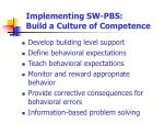 implementing sw pbs build a culture of competence