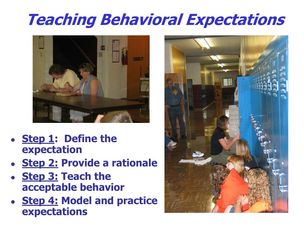 Teaching Behavioral Expectations