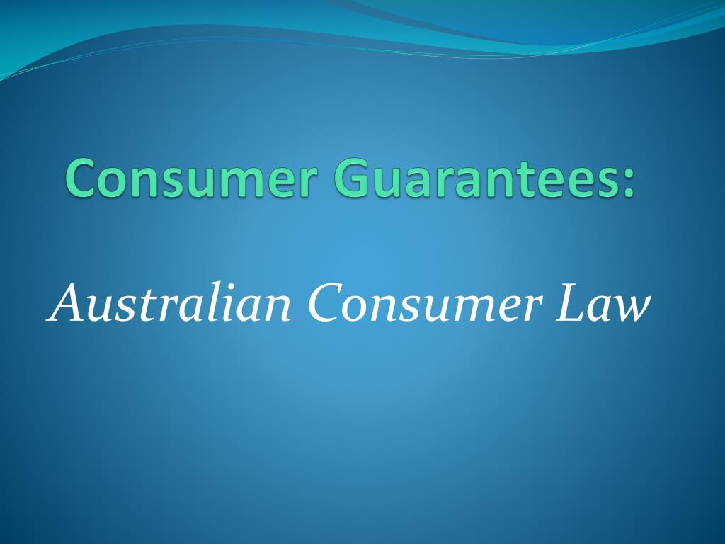 the consumer guarantees Our goods come with guarantees that cannot be excluded under the australian consumer law (acl) you are entitled to a replacement or refund for a.