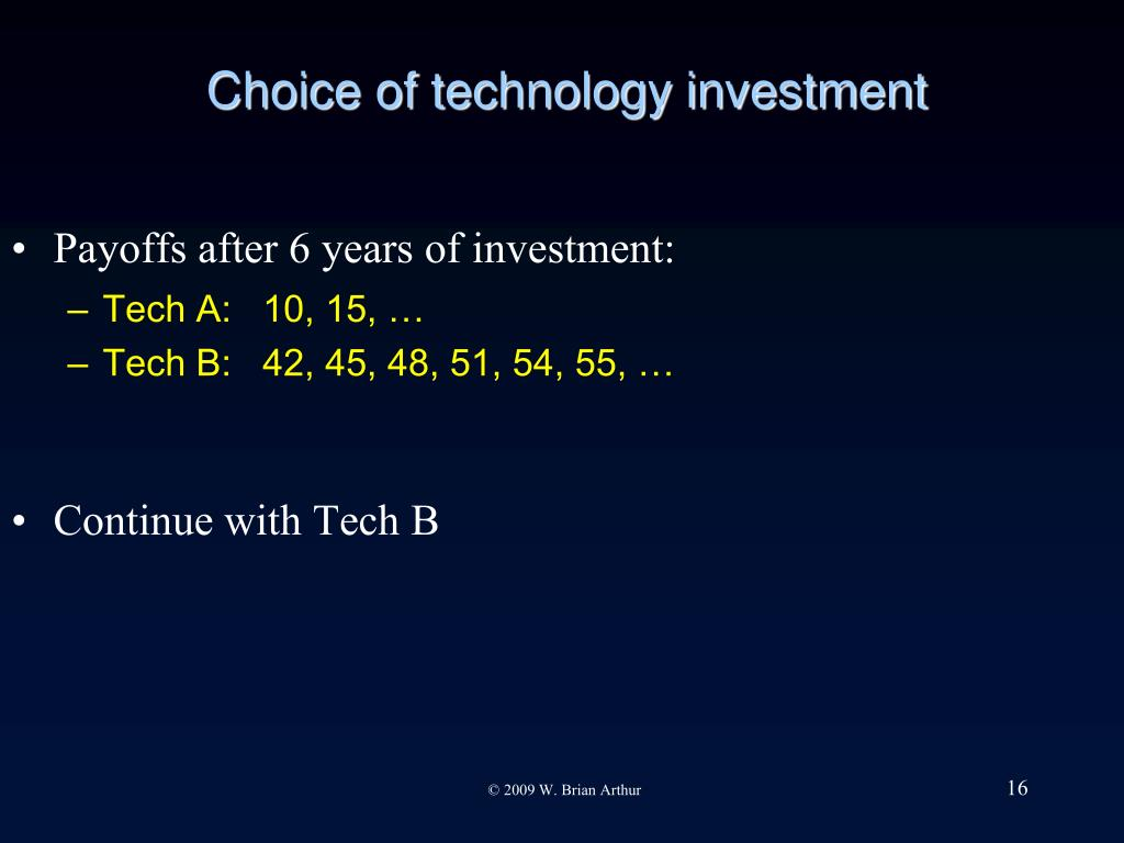 Choice of technology investment