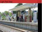 light rail stop