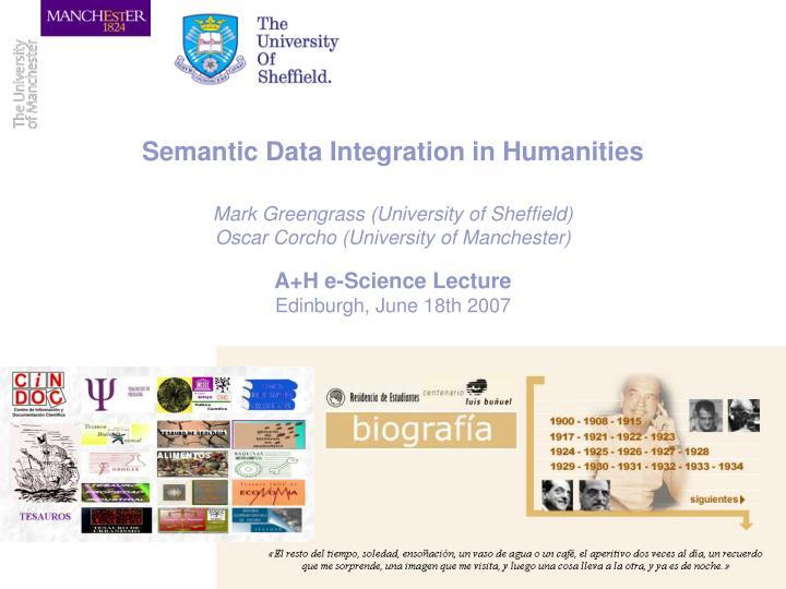 Semantic Data Integration in Humanities