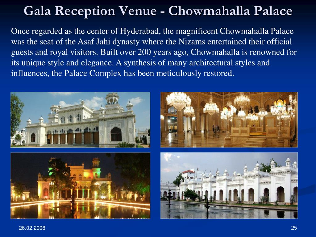 Gala Reception Venue - Chowmahalla Palace