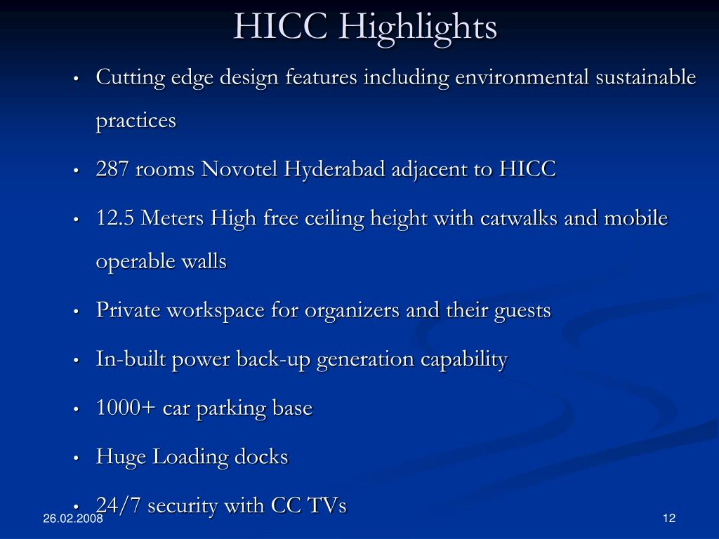 HICC Highlights
