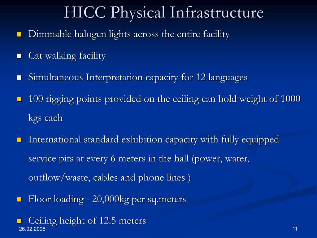 HICC Physical Infrastructure