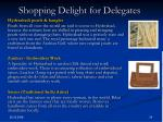 shopping delight for delegates