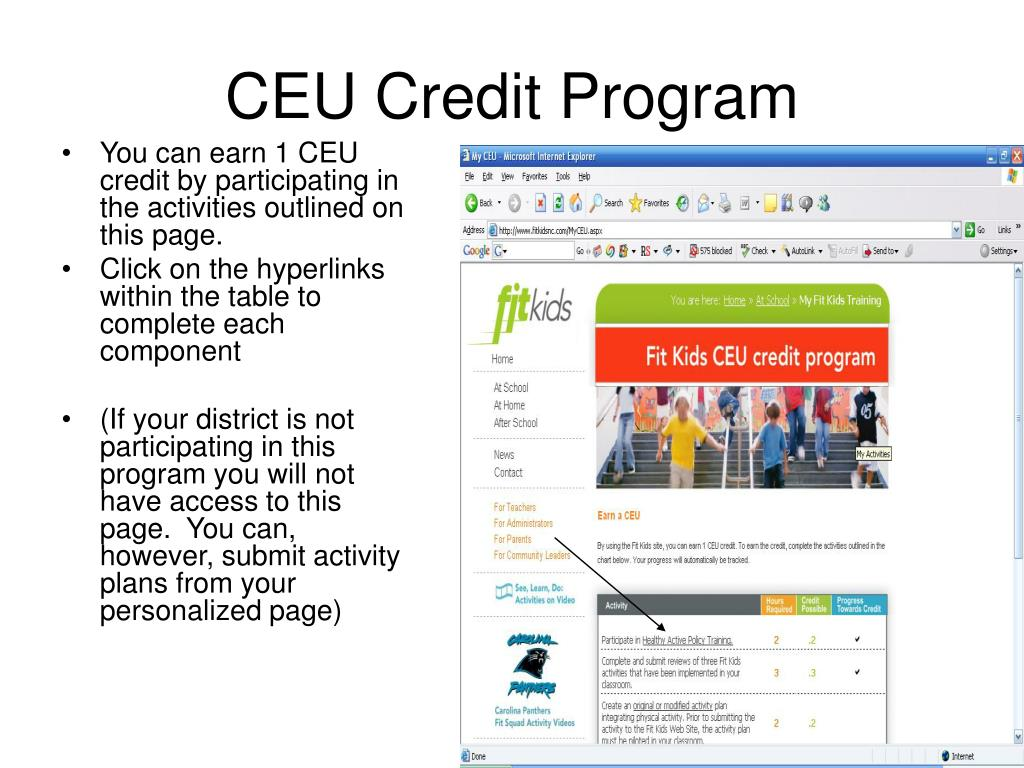CEU Credit Program