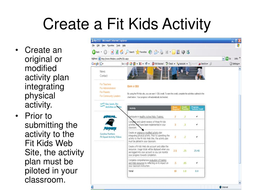 Create a Fit Kids Activity