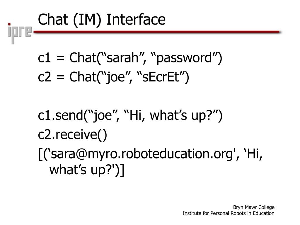 Chat (IM) Interface
