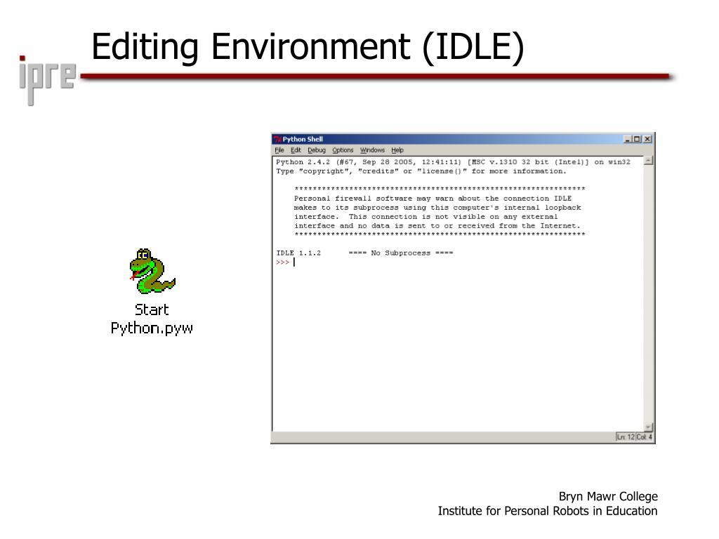 Editing Environment (IDLE)