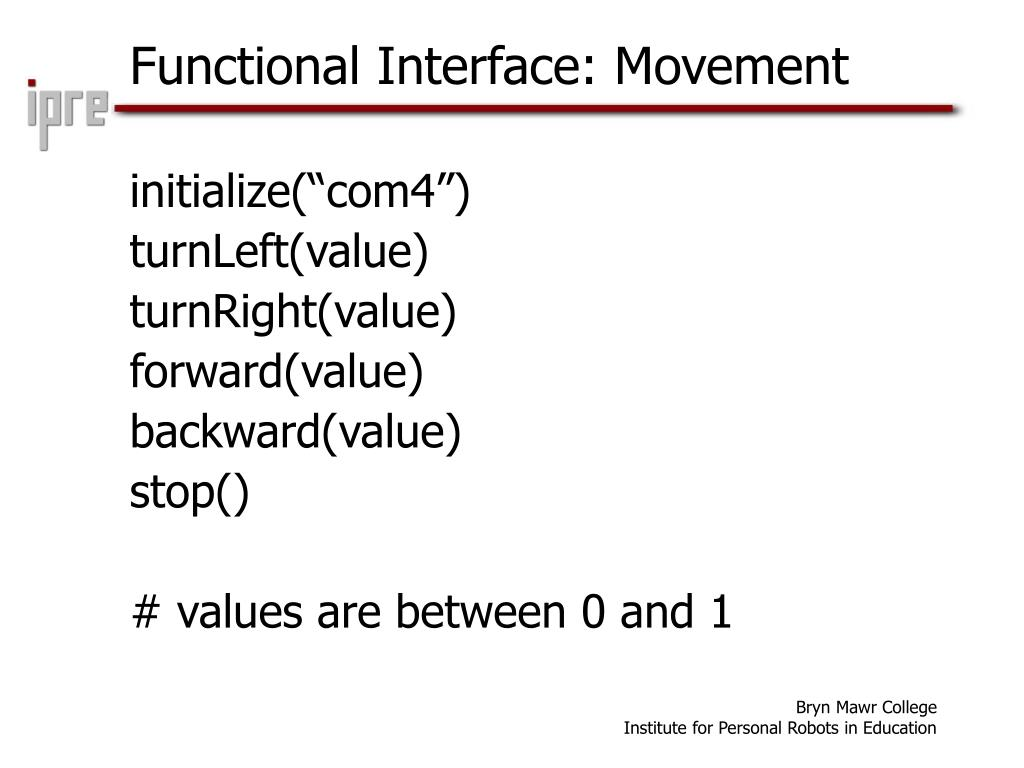 Functional Interface: Movement