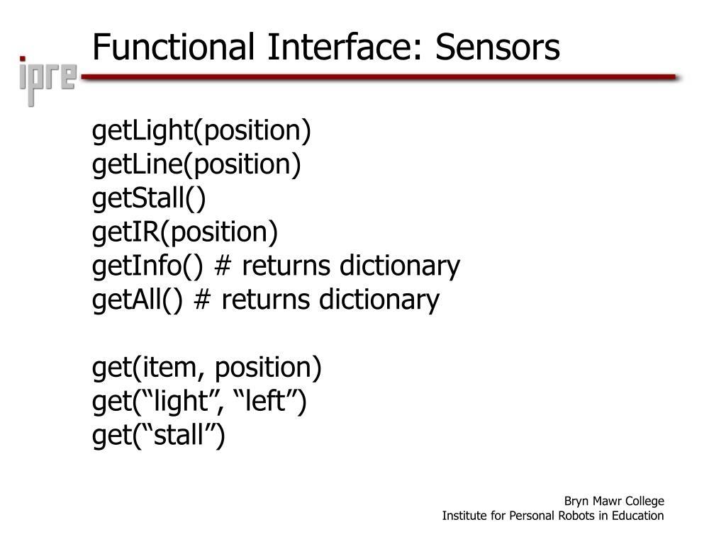 Functional Interface: Sensors
