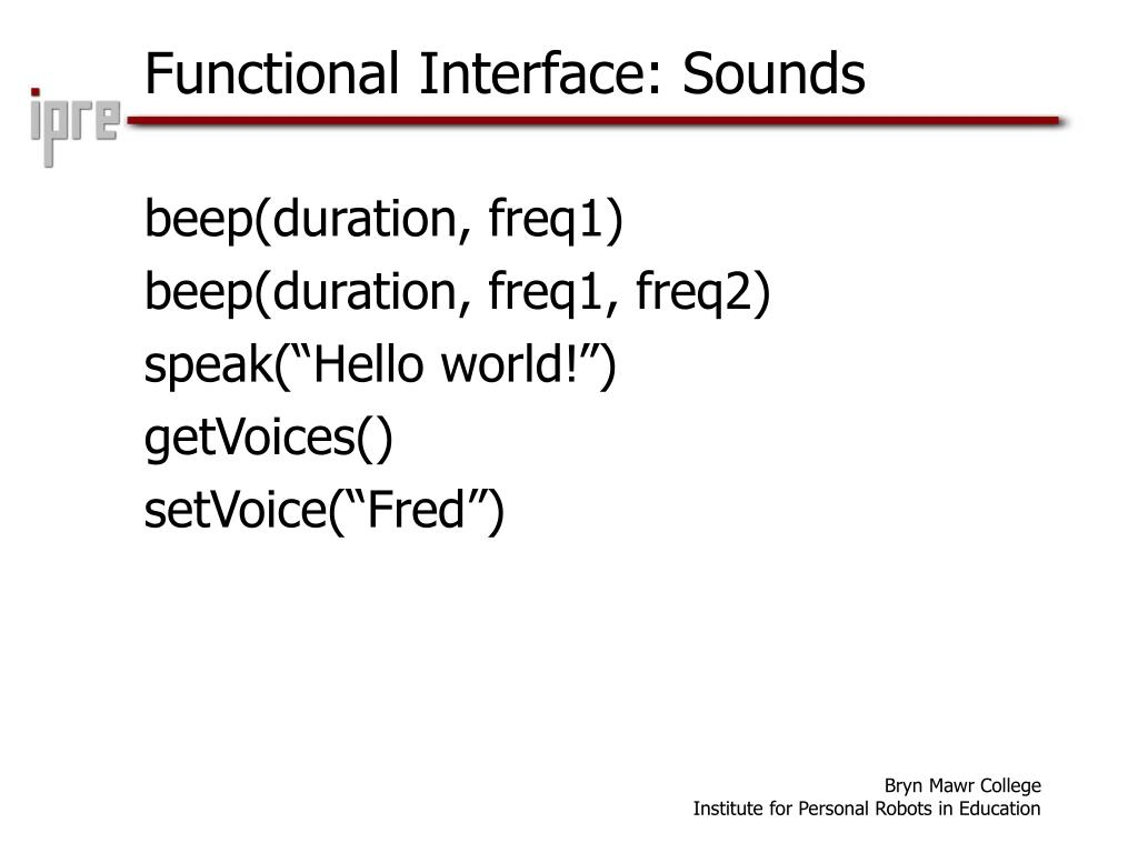 Functional Interface: Sounds