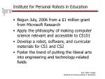 institute for personal robots in education