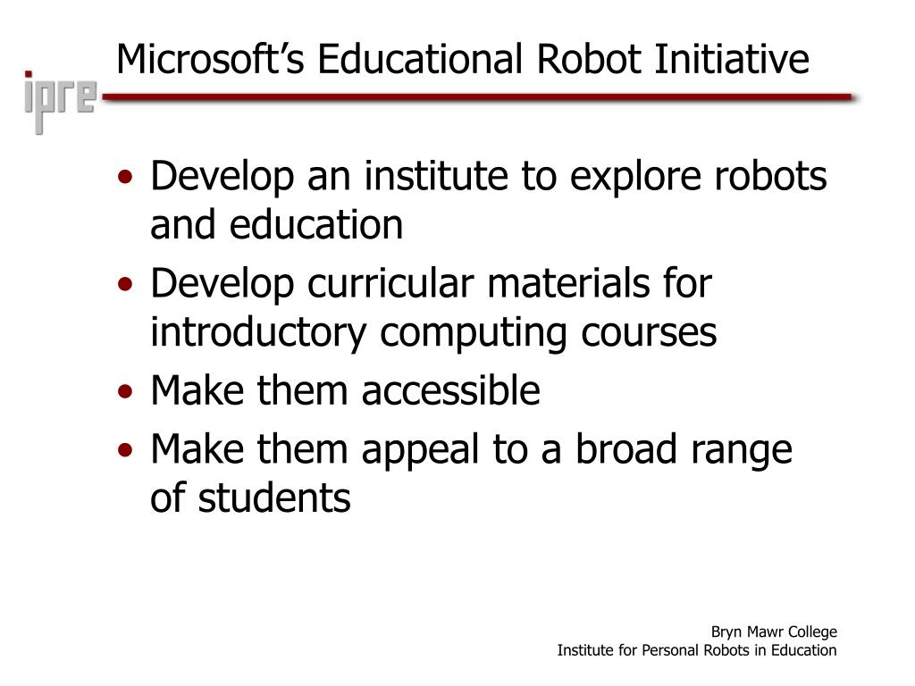 Microsoft's Educational Robot Initiative