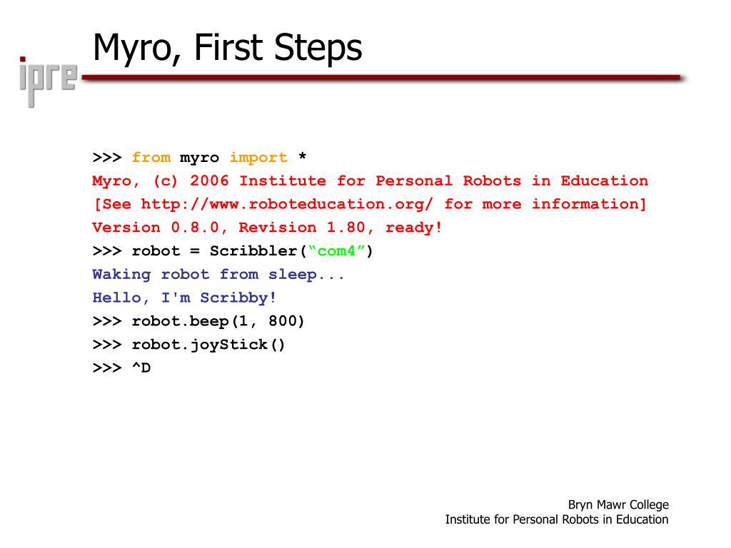 Myro, First Steps