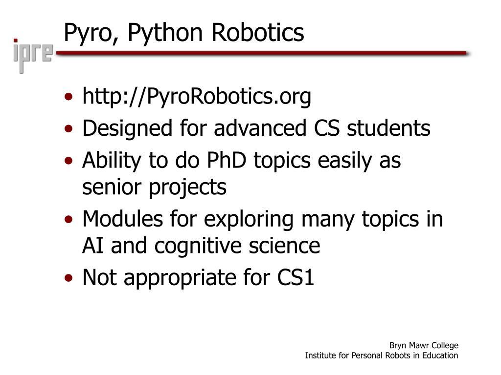 Pyro, Python Robotics