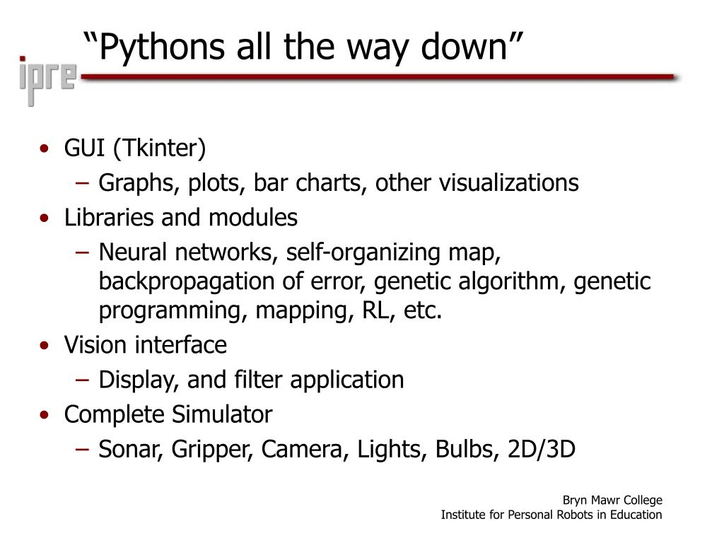 """Pythons all the way down"""