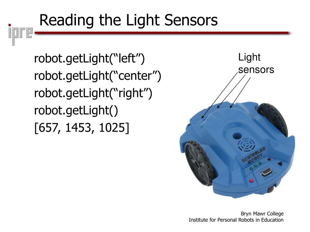 Reading the Light Sensors