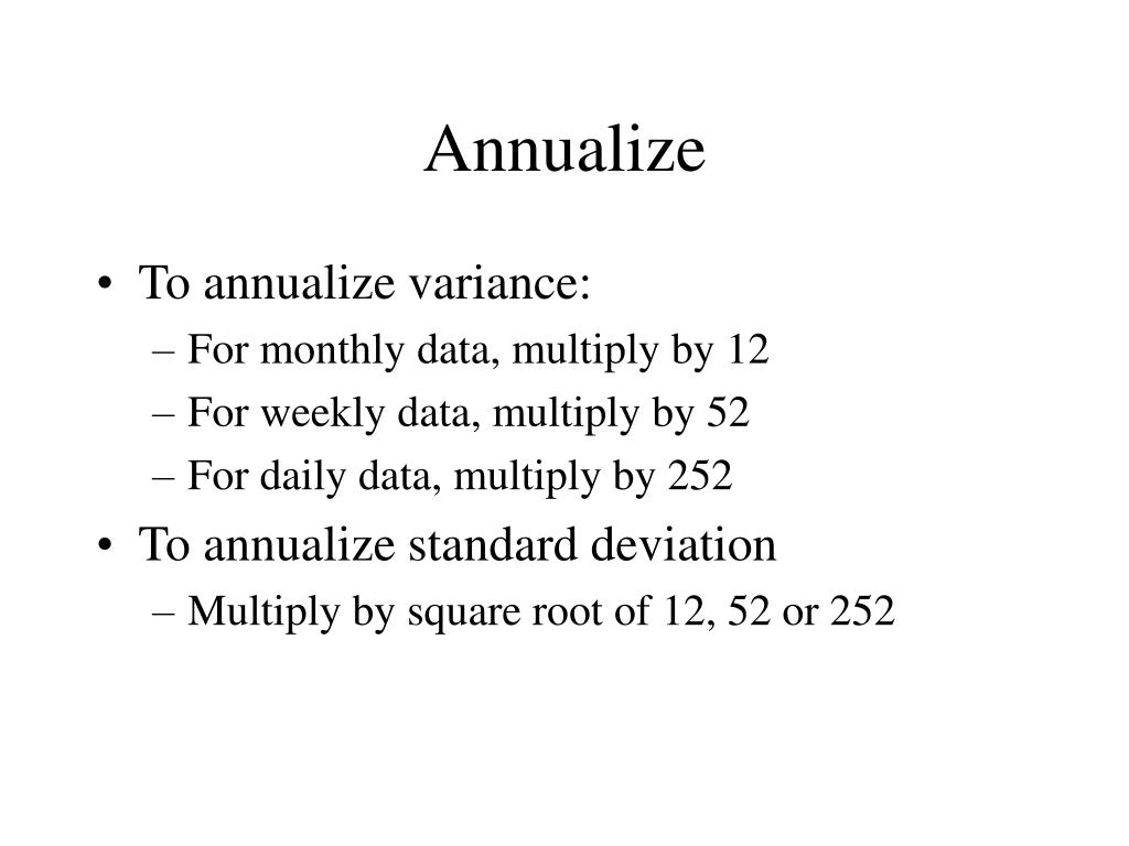 Annualize
