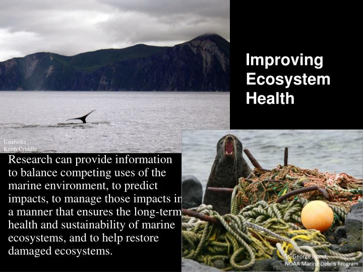 Improving Ecosystem Health