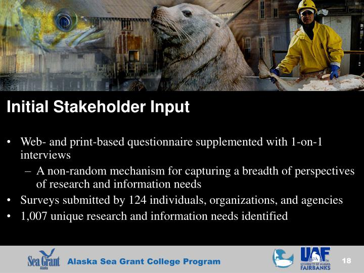 Initial Stakeholder Input
