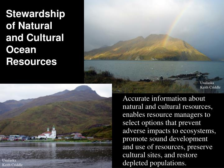 Stewardship of Natural and Cultural Ocean Resources