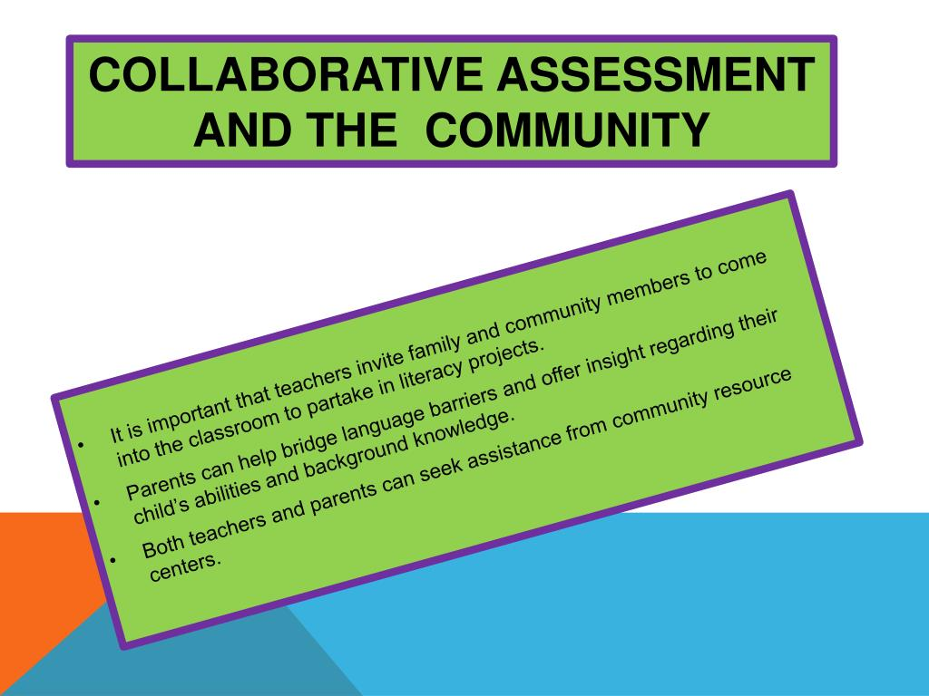 Collaborative Assessment In The Classroom ~ Ppt recommendations for literacy assessment practices
