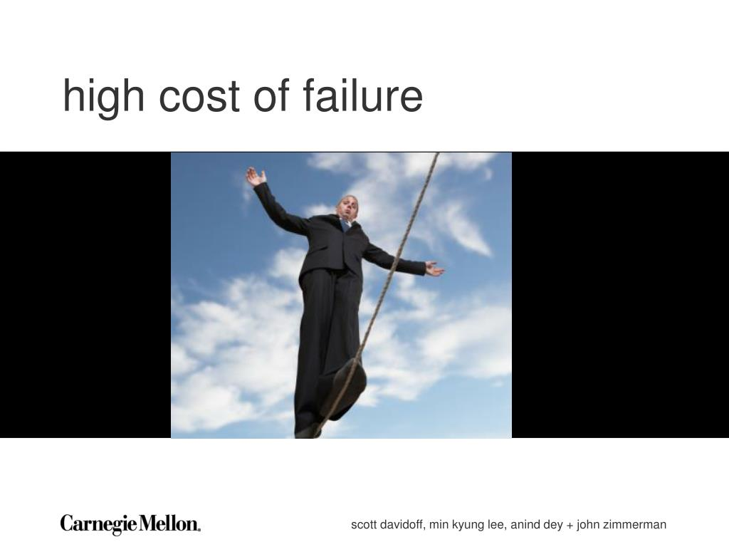 high cost of failure