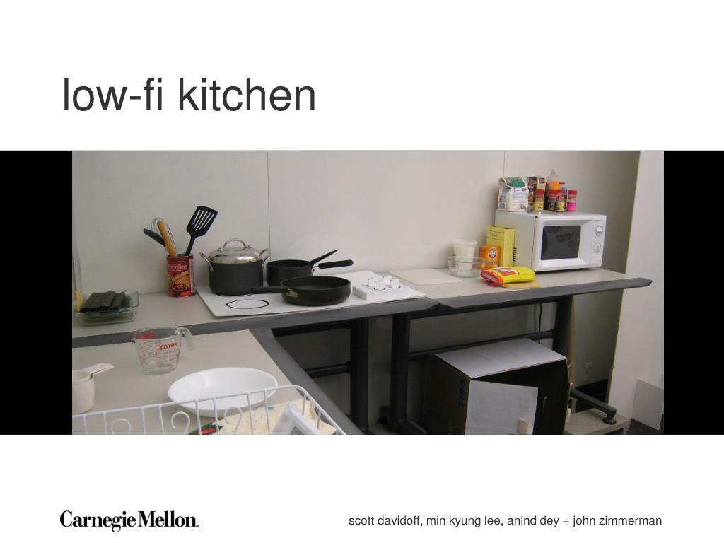 low-fi kitchen