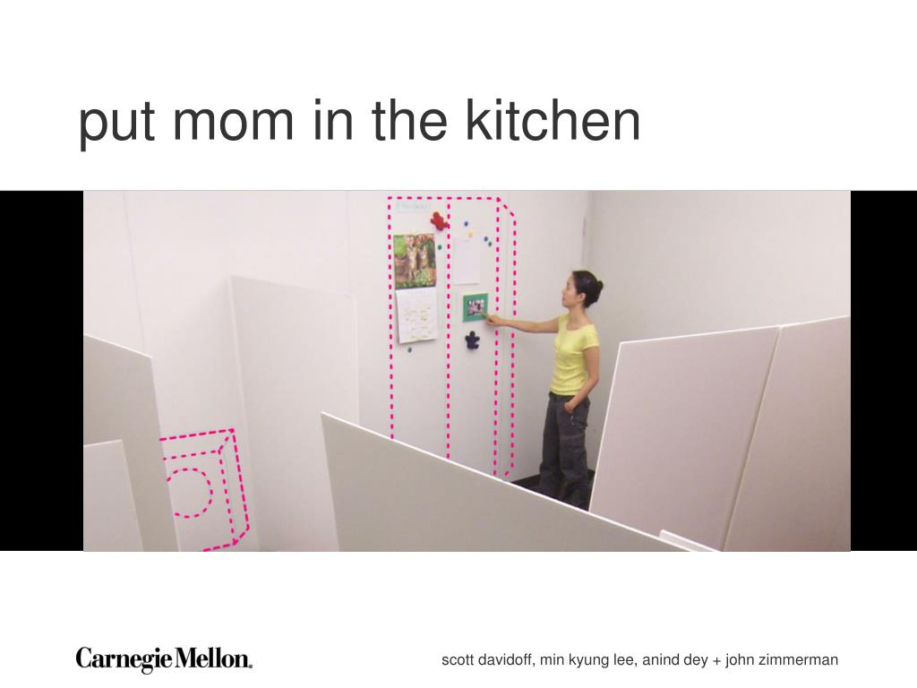put mom in the kitchen