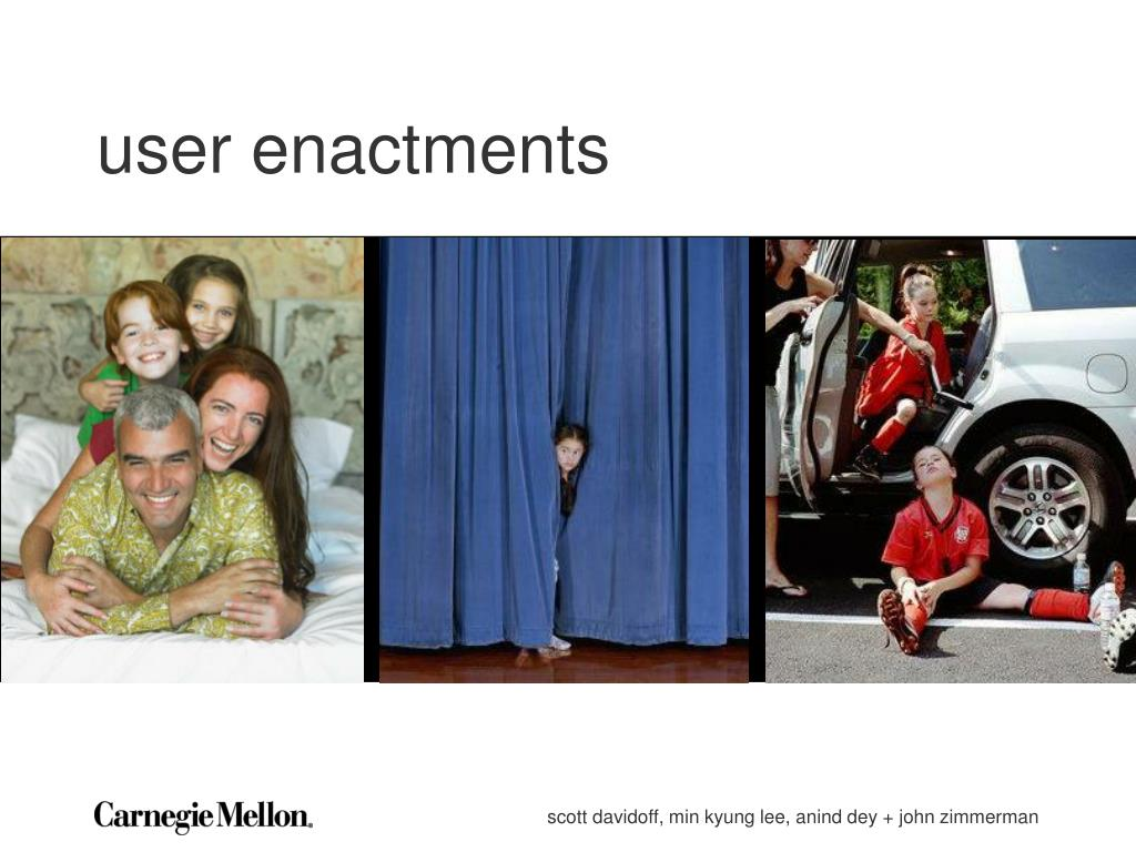 user enactments