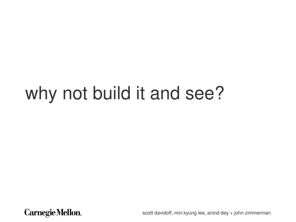 why not build it and see?