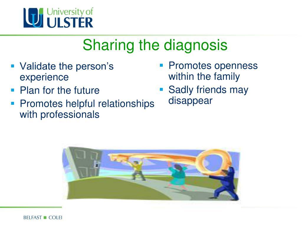 Sharing the diagnosis