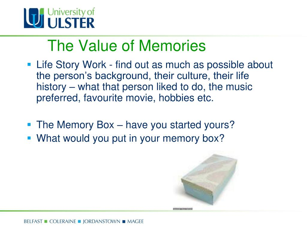 The Value of Memories
