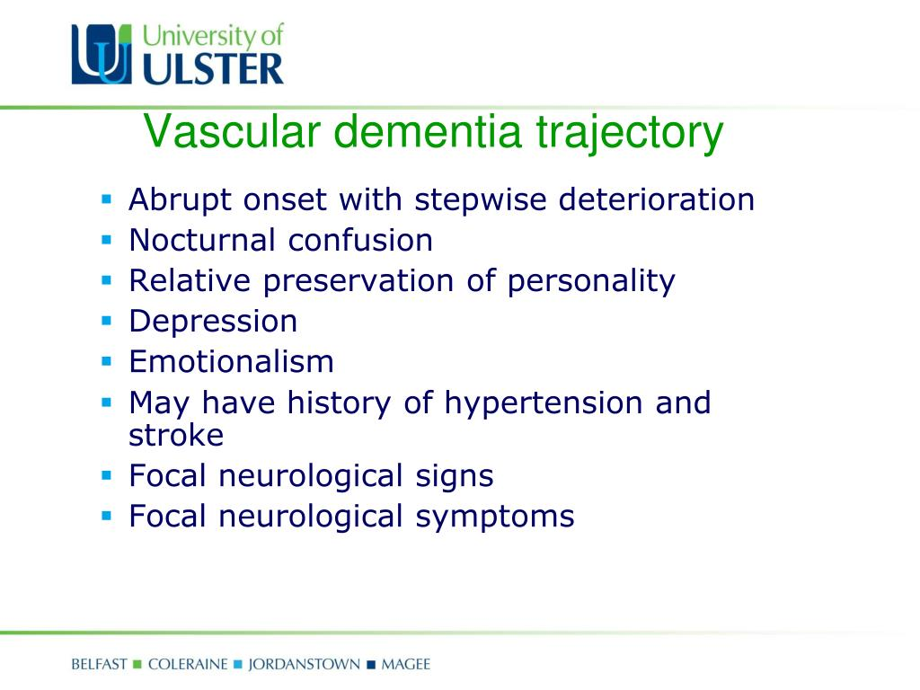 Vascular dementia trajectory