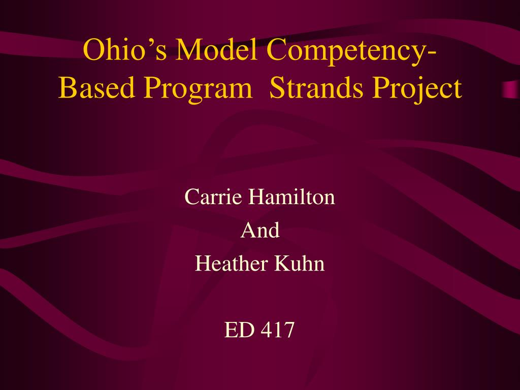 Ohio's Model Competency-Based Program  Strands Project