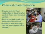 chemical characterization