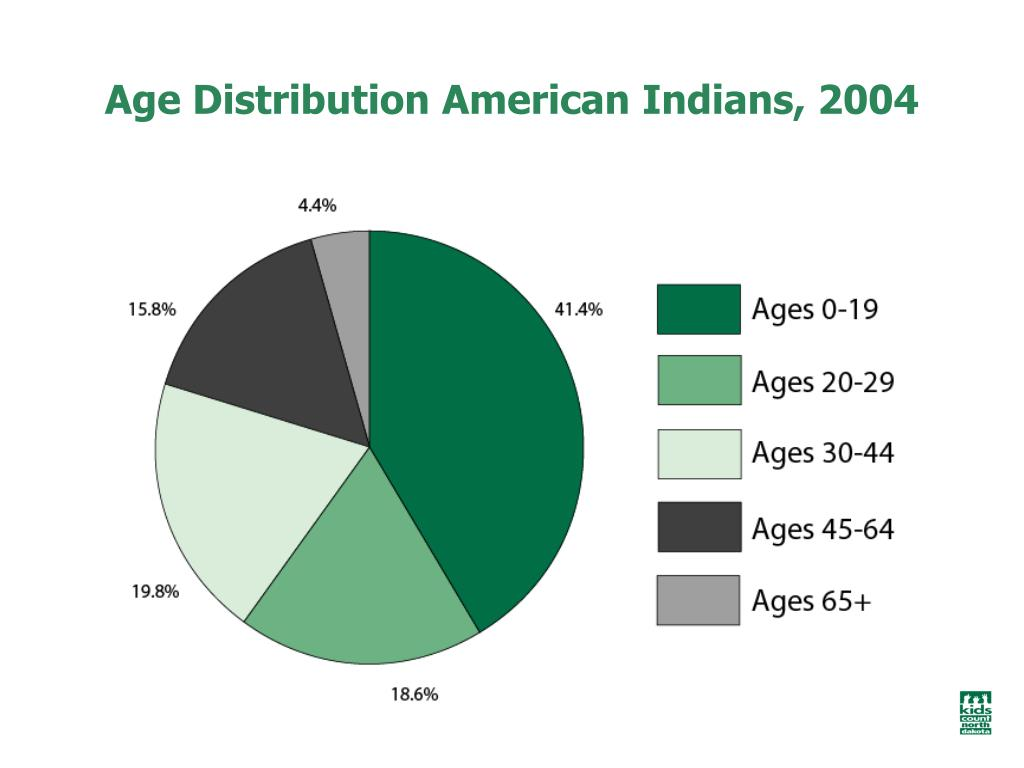 Age Distribution American Indians, 2004