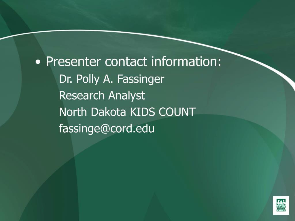 Presenter contact information: