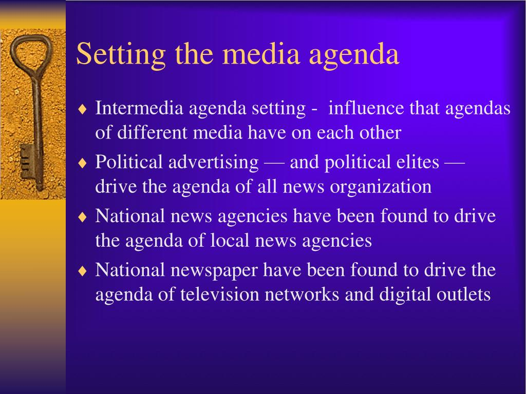 media and politics agenda setting and Media and politics: agenda setting and framing essaysmedia and politics: agenda setting and framing how has media influenced public perception of political figures, issues, and institutions.